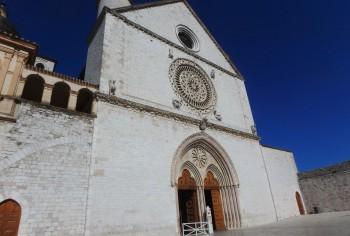 The Basilica of San Francesco, Assisi, the facade of the Upper Basilica.