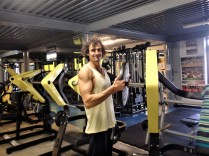Luca, a member of the Y. Looks like Luca works his arms a bit. Good job Luca!