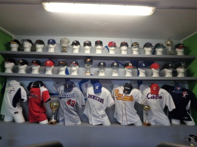 I wasn't expecting to see such an array of baseball jerseys and hats at a YMCA in Italy. Deborah's husband Giovanni is the strength coach for Italy's national baseball team. The jerseys are representative of the World Baseball Classic and European champions.