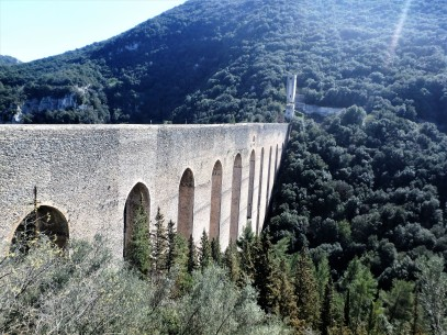 The Bridge of Towers - there are 10 arches and it stands 96 meters high over the ravine.