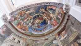 """The Coronation of the Virgin"" on the apse ceiling in the Duomo, by Filippo Lippi"