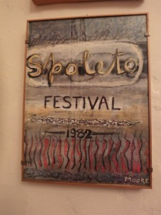 Spoleto Festival poster inside the restaurant.