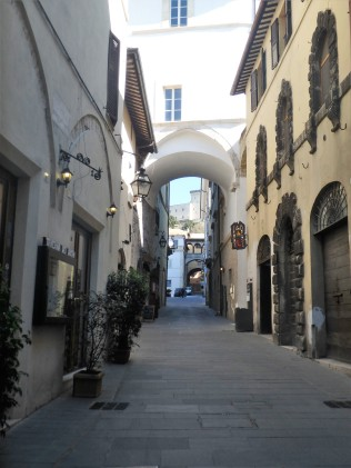 Street in Spoleto. We owned the town. Street were empty.