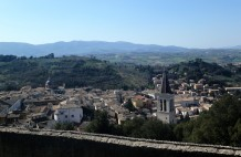 The view of Spoleto from the fortress, La Rocca Albornoziana.
