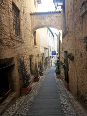 Typical street in Spoleto