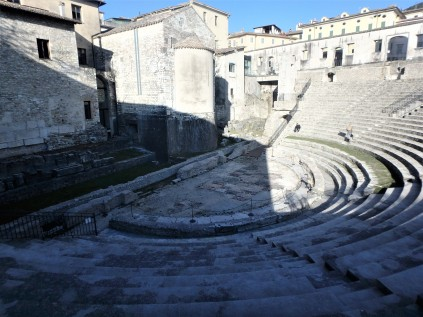 The Roman ampitheater, built in the early years of the Roman empire. It is now used for concerts and other cultural events.