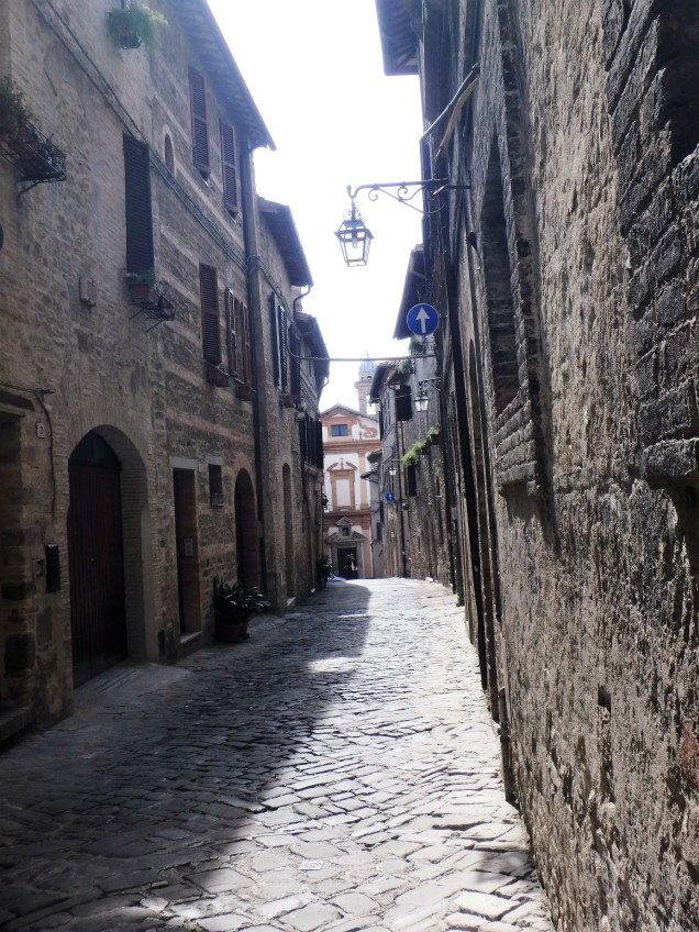 Street in Bevagna.