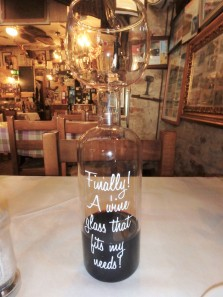 This is the wine 'glass' I was given to enjoy the town's signature wine, Sagrantino. Can you see the top? It's silly.