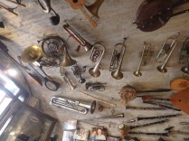 More instruments on the ceiling.