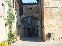 The streets of Murlo, a small community that is home to a major Etruscan museum.