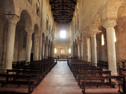 Inside the church of Sant-Animo, built in the 12th Century.