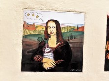An artist's idea for a label for a bottle of Brunello. I'd buy it!