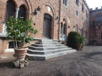 On the grounds of Castle Brolio