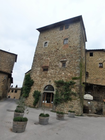 At Volpaia, a small village in Radda in Chianti. We came here to have lunch at the restaurant of Dario's friend who he writes about in some of his books. Alas, the place was closed that day. (not pictured)