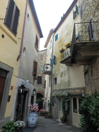 A typical street in a small village in Chianti. I love this place.