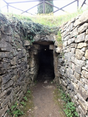 Another entrance of the Etruscan tomb, buried under the Tumulus of Montecalvario. There are four burial chambers inside, each with a main burial room and connecting cells. The tomb dates back to six century BC but was discovered in the 16th Century. It was excavated in 1915.