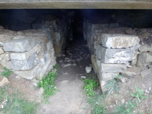 An entrance to the Etruscan tombs, excavated in 1915. Decorations in iron and bronze were found inside, likely ruins of a war chariot.
