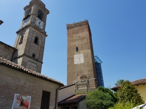Clock tower in Barbaresco