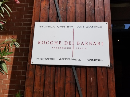 At the Rocche dei Barbari winery.