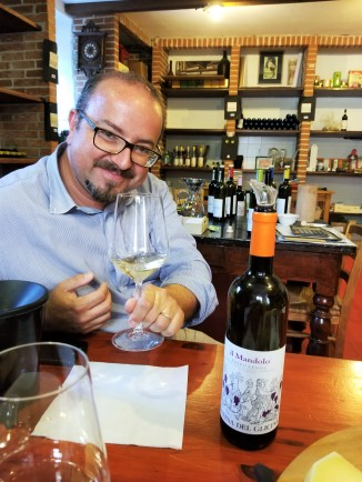My guide and wine expert Sandro Minella. Cheers!