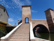 The bridge at Comacchio. The main fishing industry here is eel.