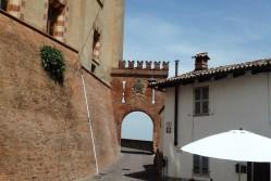 Outside the Falletti Castle