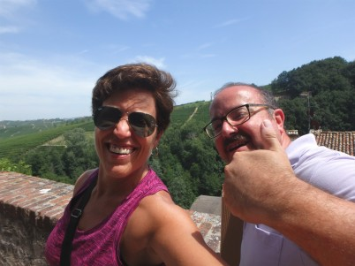 Me and Sandro outside the Grinzane Cavour castle
