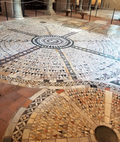 The floor of the church of Santa Maria.
