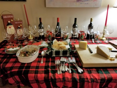 Ready for guests. Antipasto, cheese, bread, wine. Just for starters.
