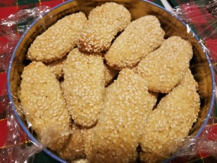 Sicilian sesame seed cookies, a tradition in our house.