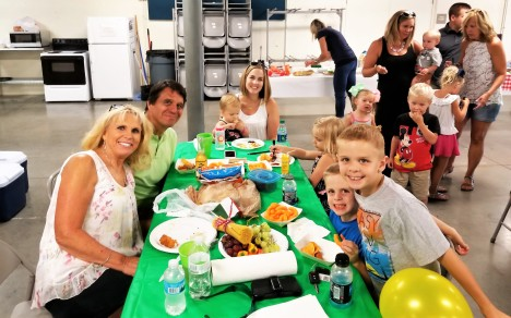 L to R: Linda, husband Cousin Ron, Katie, holding daughter Emma and children Carly, Luke and Jake. Katie is married to Cousin Chris, Ron's oldest son.