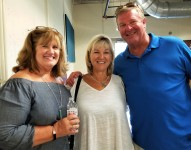 L to R: Patty Coffaro, married to Cousin Roger, Cousin Sue Coffaro Robbe, and her husband Ed Robbe.