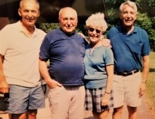 Uncle Charlie, Uncle Pat, my mom and Uncle Joe at a cousins' picnic in the late 90s.