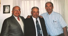 Uncle Pat, cousin Tony, who lives in Grotte, and Uncle Charlie in 1995 at Venera's wedding.