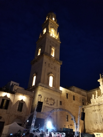 The belltower of the cathedral of Lecce.