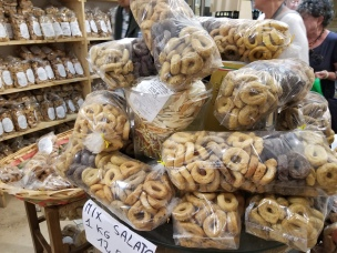 "In the ""House of Taralli"" store in Lecce. Yum!"