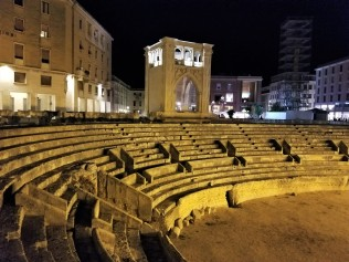 Ruins of a Roman ampitheater sit in the historic center of Lecce. Photo doesn't do it justice.