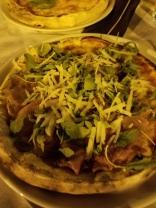 Rucola, parmigiano, prosciutto.