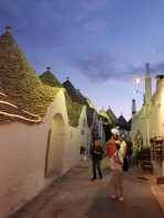 Shopping district and renovated Trulli