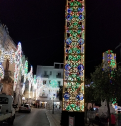 Beautiful lights in the center of town