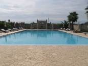 Yes, there's a pool at the masseria. And it was lovely.