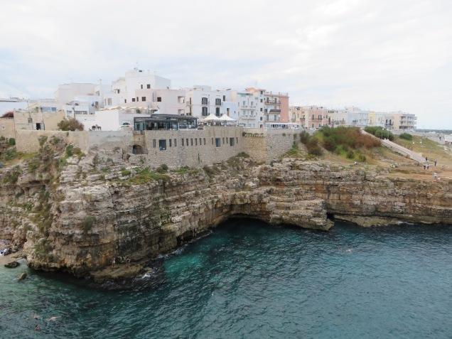 The rocky coast